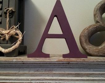 Freestanding Decorative Wooden Letter 'A' - Georgian Style - 20cm