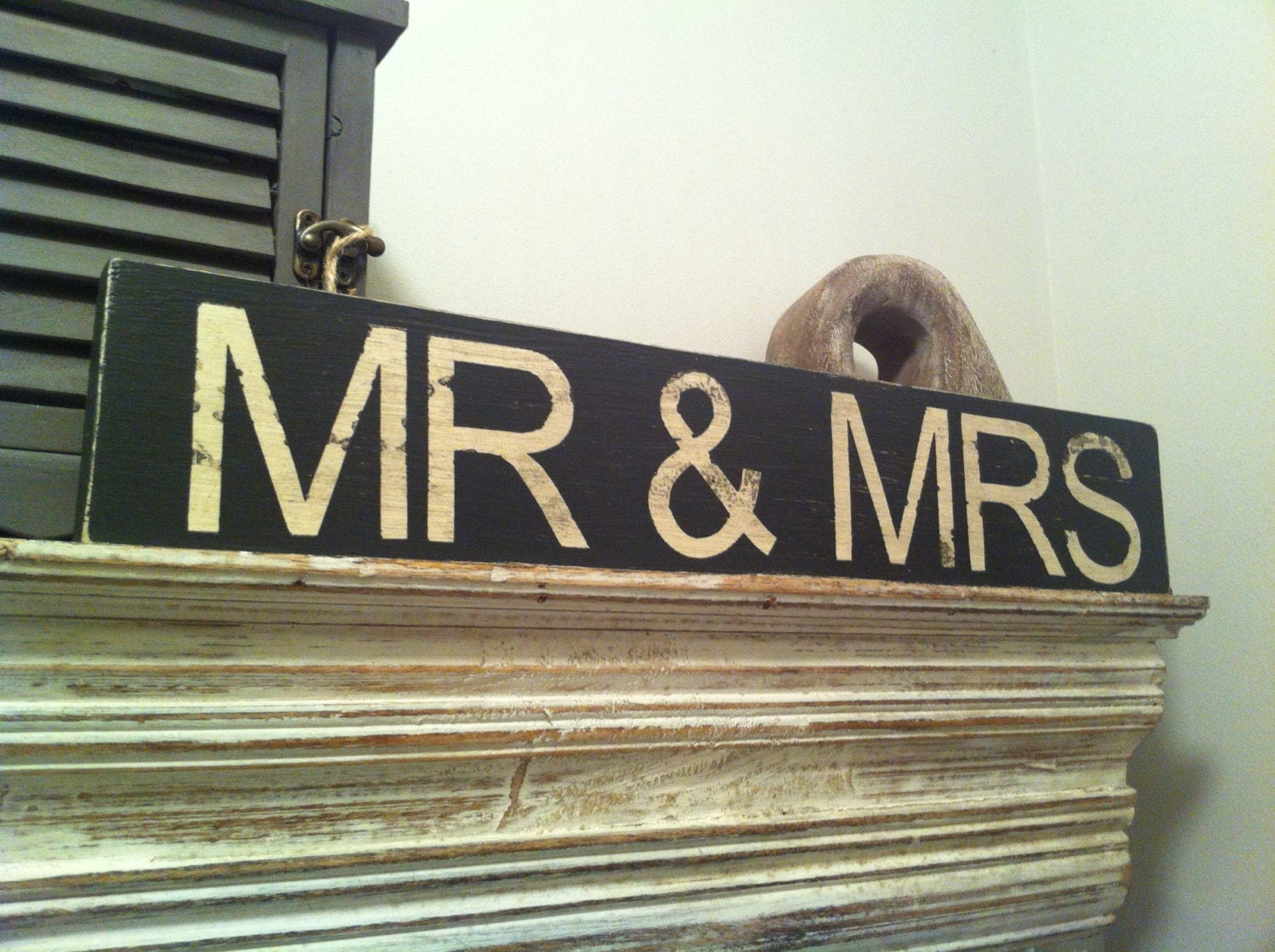 Mr And Mrs Large Wooden Letters: Large Handmade Wooden Sign Sign