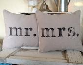 Mr.& Mrs. Pillow set