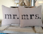 Reserved Listing for Madeleine Mr.& Mrs. Pillow set