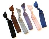 Mist - 6 Comfort Elastic Hair Ties / Bands / Bracelets