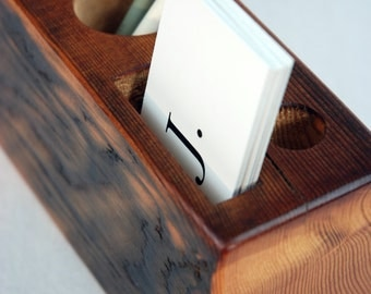 Business Card Desk Caddy -- Vertical Edition