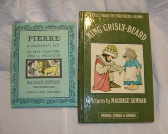 Maurice Sendak Pierre and King Grisly Beard hardback vintage children's books