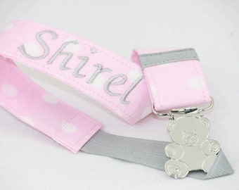 Personalized Pacifier Clip, Handmade pacifier clip, Baby shower gifts