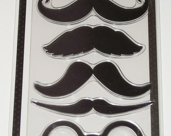 MUSTACHES Set of 7 Stamp Set by STAMPABILITIES