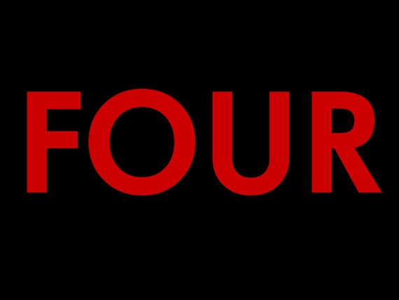 "Additional letters for your lil threadz ""FOUR""  Birthday Design"