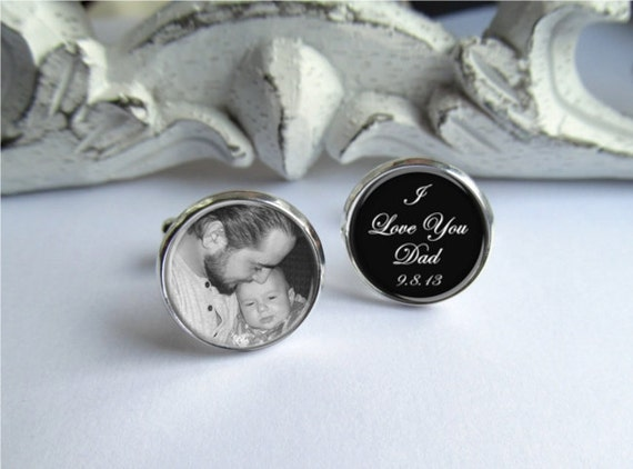 Father Of The Bride Cufflinks Personalized Photo Cufflinks