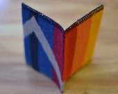 Wool Wallet Card Case - mens or womens - casual slim wallet - card case - colorful ORANGE - trendy hip wallet made of Wool