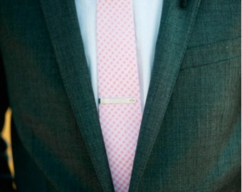 Ties for Men -- Pink Ties for Men -- Pink Gingham Tie -- Groomsmen Ties -- Wedding Ties -- mens ties -- groomsmen gift