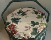 Large Octagon Shaped Sewing Basket