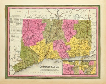 1846 Map of Connecticut