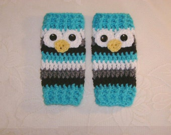 Crochet Owl Leg Warmers - Available in Newborn to Toddler Size - Any Color Combination