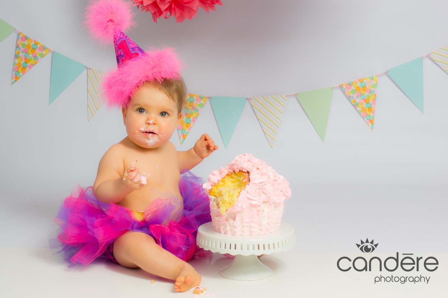 Baby Girl 1st Birthday Outfit Tutu Diaper by