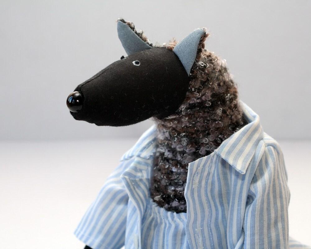 Midnight Wolf, stuffed animal toy for children