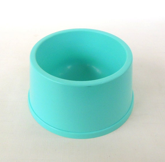Dog bowl cat food dish vintage turquoise kitchen for Cuisine turquoise