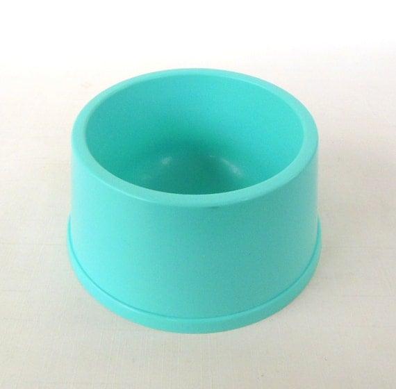 dog bowl cat food dish vintage turquoise kitchen. Black Bedroom Furniture Sets. Home Design Ideas