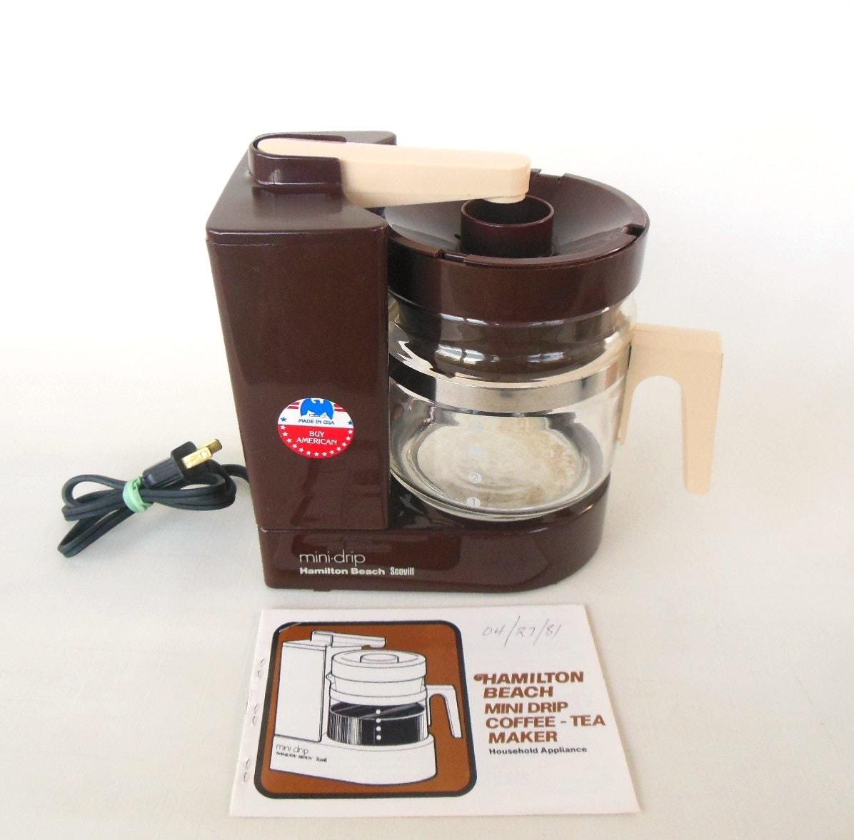 1980s Coffee Maker Brown Hamilton Beach Mini Drip