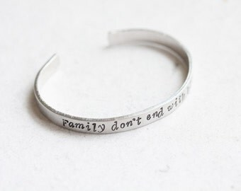 "Supernatural ""Family don't end with blood"" Cuff"