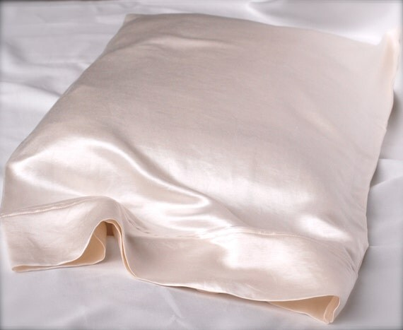 SALE Organic Hemp Charmeuse Silk Pillowcase by AdorabellaBaby
