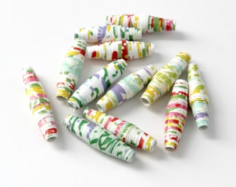 Paper Beads - Bright Colorful Floral - Wedding