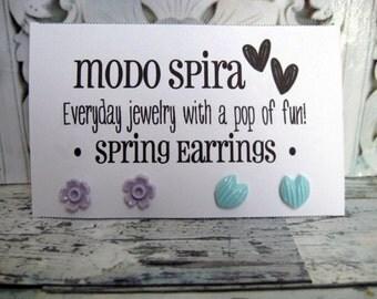 Spring Earrings - 2 Pairs