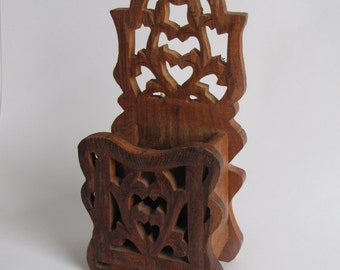 Vintage Wooden Carved Wall Sconce