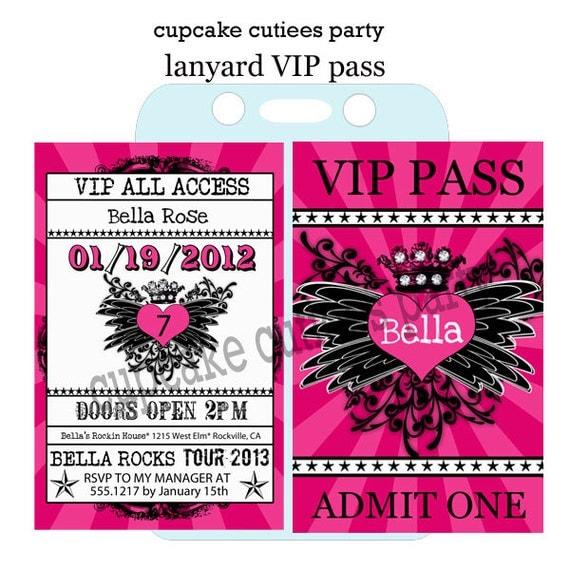 Decorative Wedding Invitation Badge 7: Items Similar To Rock Star Royalty VIP Lanyard Badge