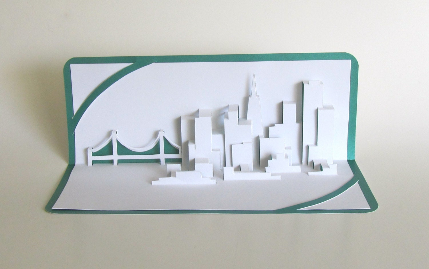 SAN FRANCISCO SKYLINE Pop Up 3D Card Home Decoration Origamic