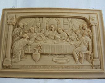 Plaster Relief Last Supper. Santos. Religious. LAst Supper. Jesus. Biblical. Relief.