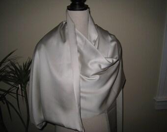 Vintage Ivory Satin Fabric, Vintage Textiles, Vintage Fabric, Bridal Fabric, Wedding Fabric