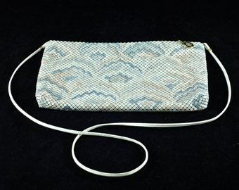 Vintage Whiting and Davis Enameled Mesh Convertible Shoulder Bag/Clutch