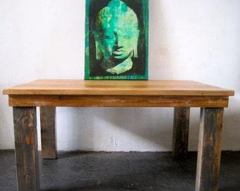 Beautiful Reclaimed Grey Wood Dining Table. Rugged/Chic.Made in LA.