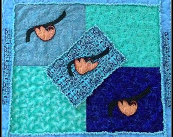 """Baby Quilt Pattern """"A Day in the Life of Harold the Sloth"""""""