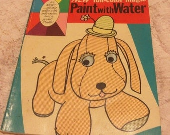Whitman New Full Color Magic Paint with Water pictures by Louise Gordon 1969 Vintage
