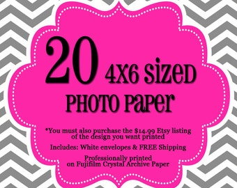 20 Professionally Printed 4x6's - 1 sided Photo Cards - FREE Shipping