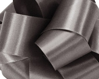 "Satin Ribbon, 1 1/2"" Double Face Pewter Grey - FOUR YARDS - Offray Satin No. 9 Pewter #388,  Double Sided Satin, Sewing Trim, Wedding Ribbon"
