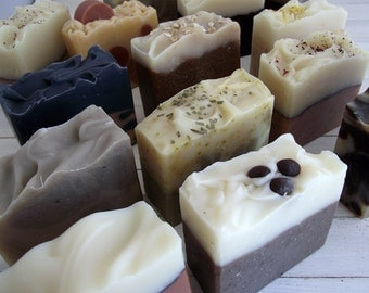 Handmade Soap - All Natural Cold Process Soaps - Your choice of 3 homemade soap - Natural Soap