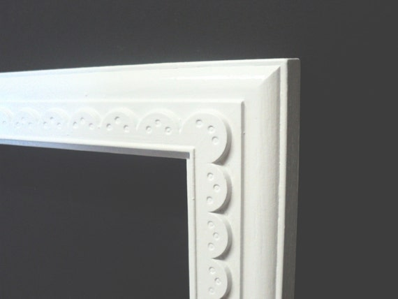 large white scalloped picture frame photography by melissap6908. Black Bedroom Furniture Sets. Home Design Ideas