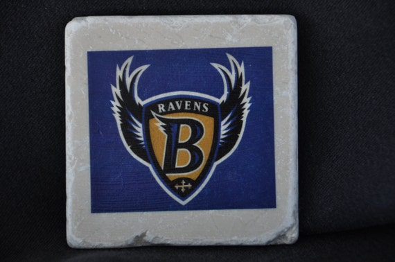 Baltimore Ravens Coasters Set of 4 handcrafted