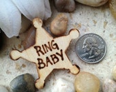 Ring Baby Tiny Ring Bearer Small Badge for the Little Guy - SO Adorable Rustic Chic Wedding Decoration