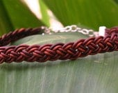 Quad-Braid leather choker with silver clasp