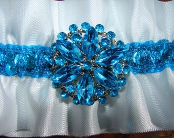 TURQUOISE WHITE GARTERS, ivory Garters, Blue Garters, Pink Garters, Burgandy Garter,Black Garter,Red Garter, Turquoise Garter, Purple Garter
