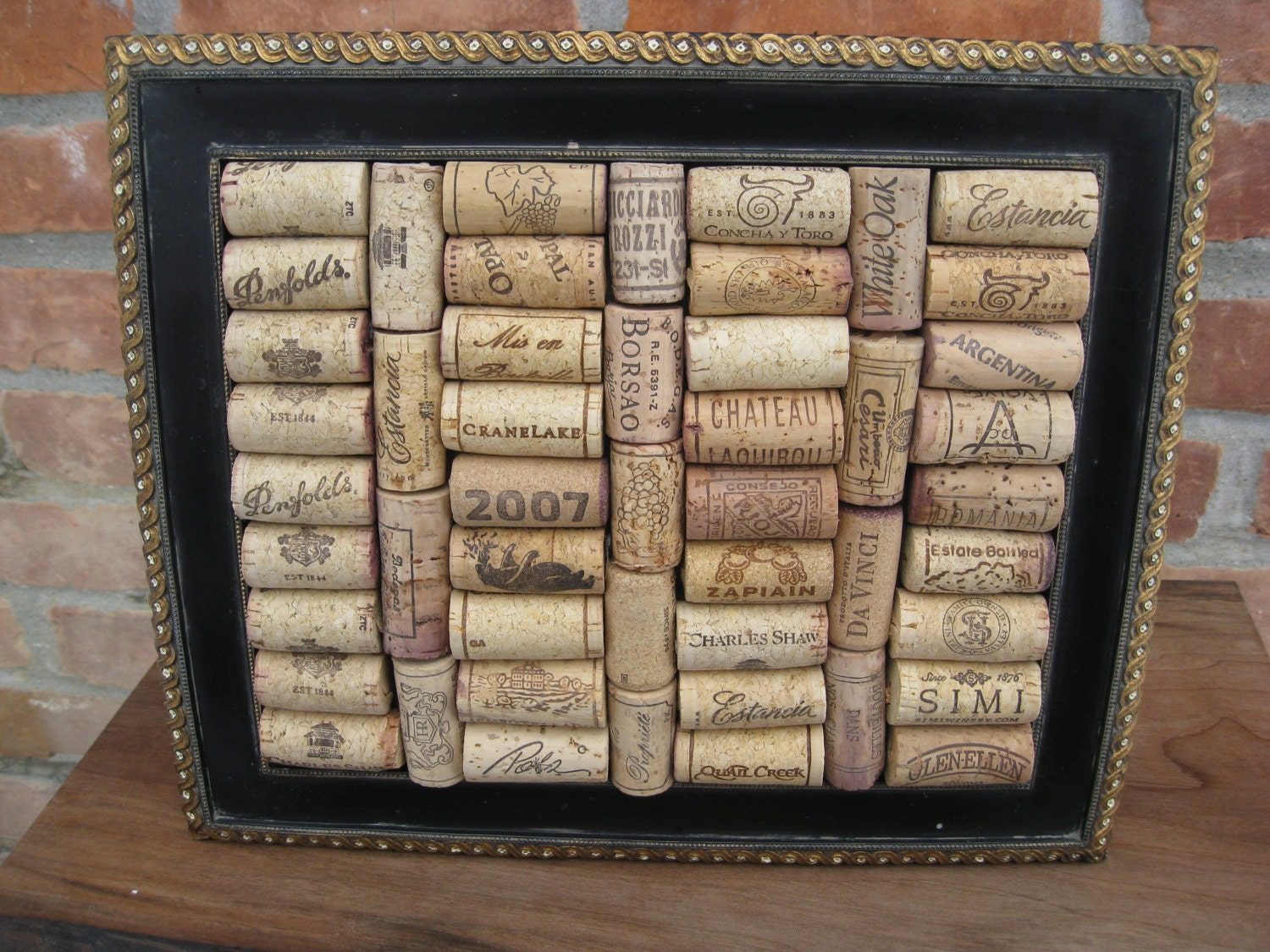 Rustic Wine Cork Picture Frame. Home Decor by TreeTownPaper