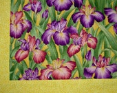 Iris purple green Cotton Patchwork lap throw Canadian Blanket ***FREE SHIPPING*** Made in USA