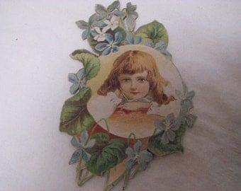 Victorian scrap art Easter lithograph scrap