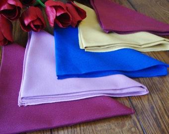 Colorful Napkins Set of Five Vintage Napkins