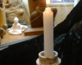 Carved Stone Marble Layered Candle Holder