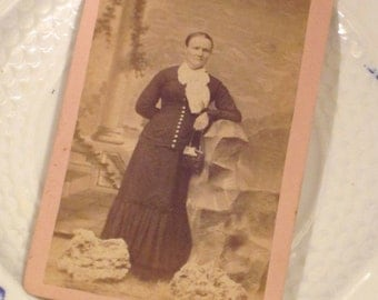 Antique CDV Lady from the 1870's
