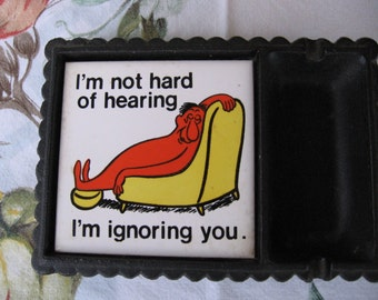 Snarky Cast Iron Ashtray