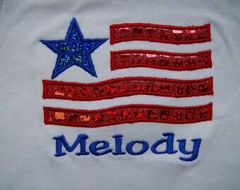 Sparkly Flag Shirt